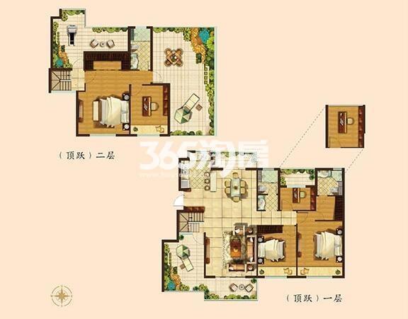 189平方米墅级洋房五房两厅三卫