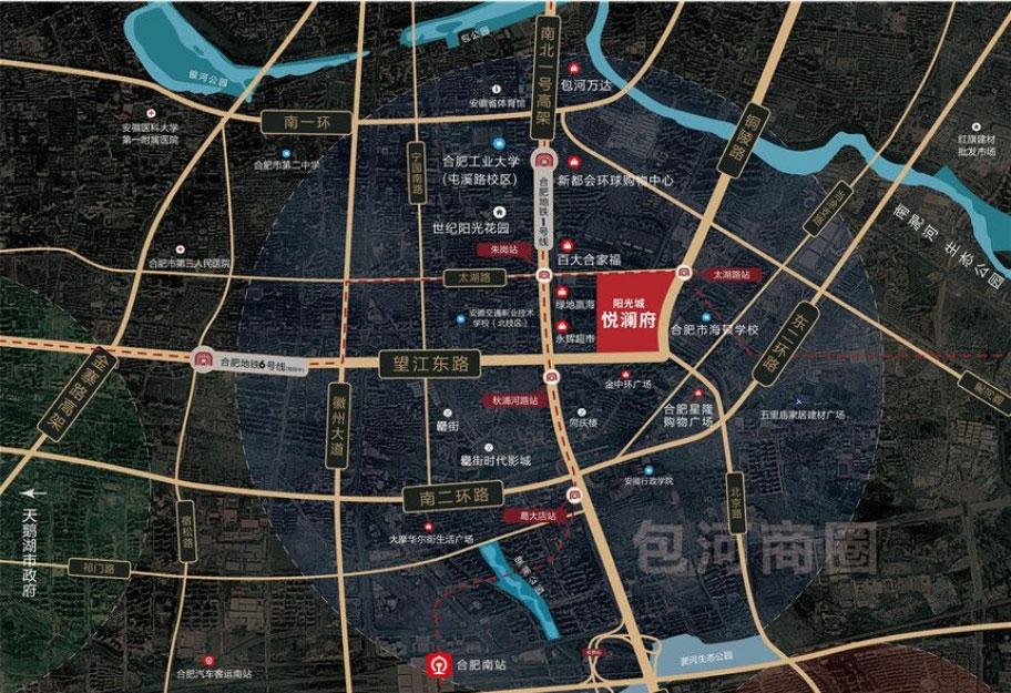 阳光城悦澜府区位图