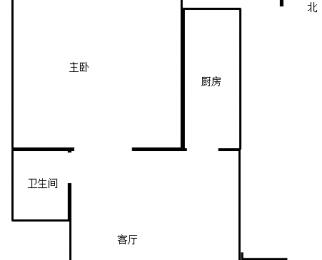 新街口张府园白下路太平南路洪宇大厦1室1厅整租精装