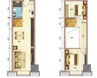 瑶海铂金中心精装跃层3室 买一层送一层 地铁口可上学 可整层出售
