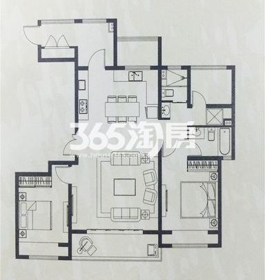 海胥澜庭三室两厅两卫125平
