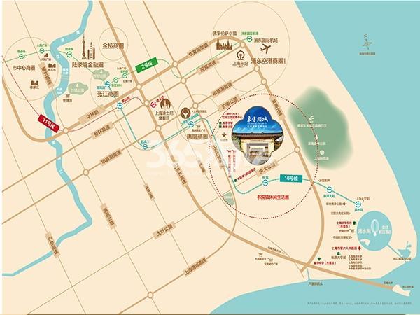 东方颐城交通图