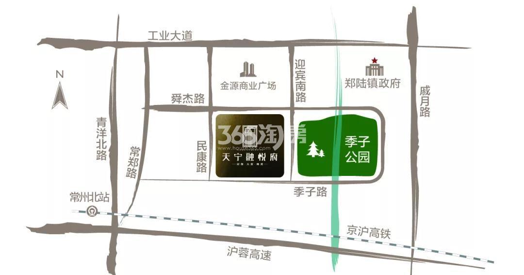 天宁融悦府交通图