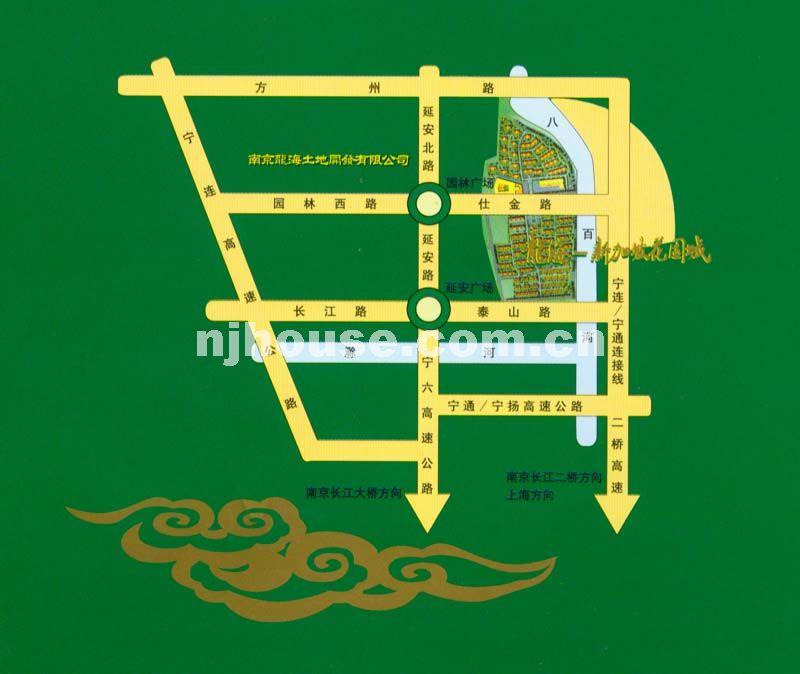 龙海-新加坡花园城交通图