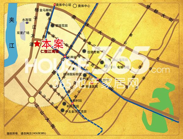 仁恒江湾天成交通图