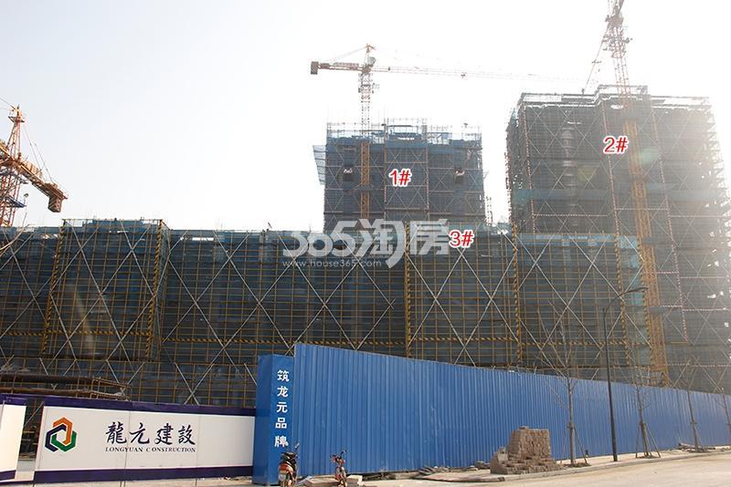 中国铁建西湖国际城高层1-3号楼实景图(2018.1)