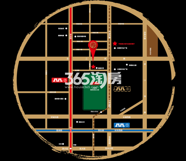 保利中航樾公馆交通图