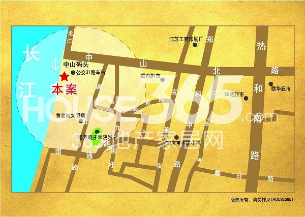 长江峰景交通图