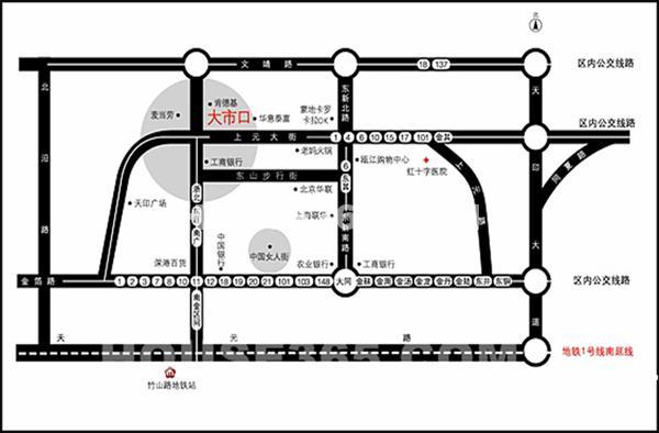 富腾购物广场交通图