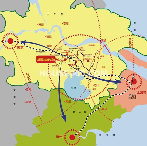 洛社商贸城交通图