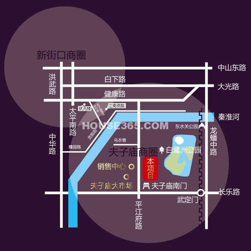 蕴金商业广场交通图