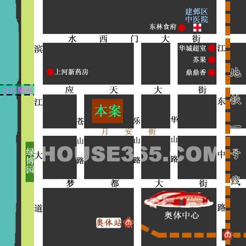 汇锦国际交通图