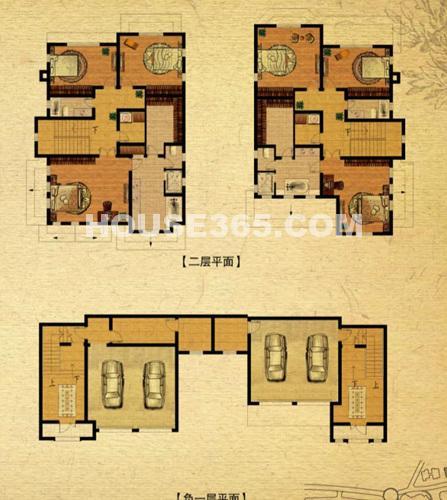 C-4户型·三室三厅三卫·二层和负一层