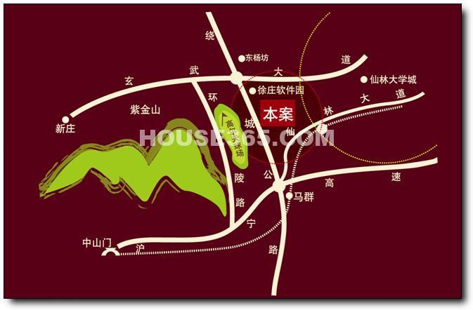 紫气钟山·玫瑰园交通图