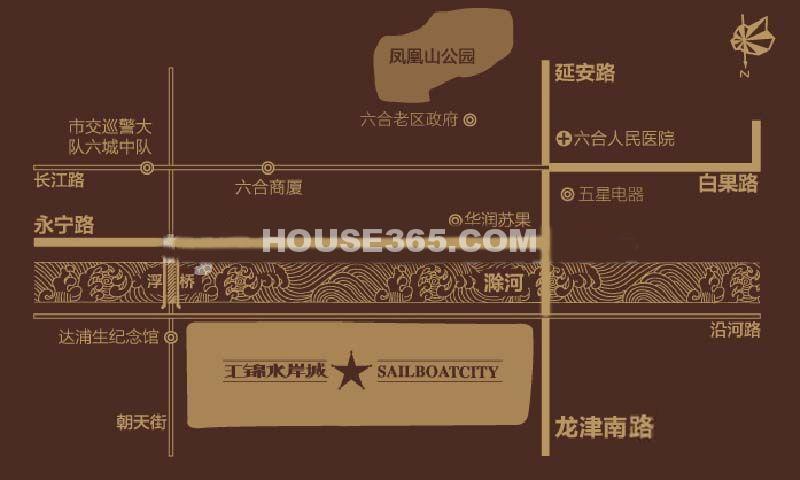 汇锦水岸城交通图