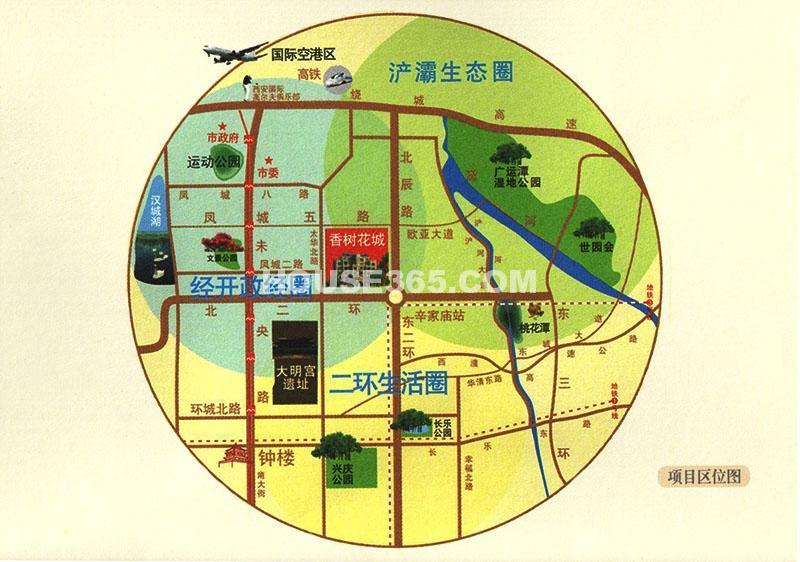 绿地香树花城区位图