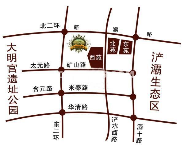 西岸国际花园交通图