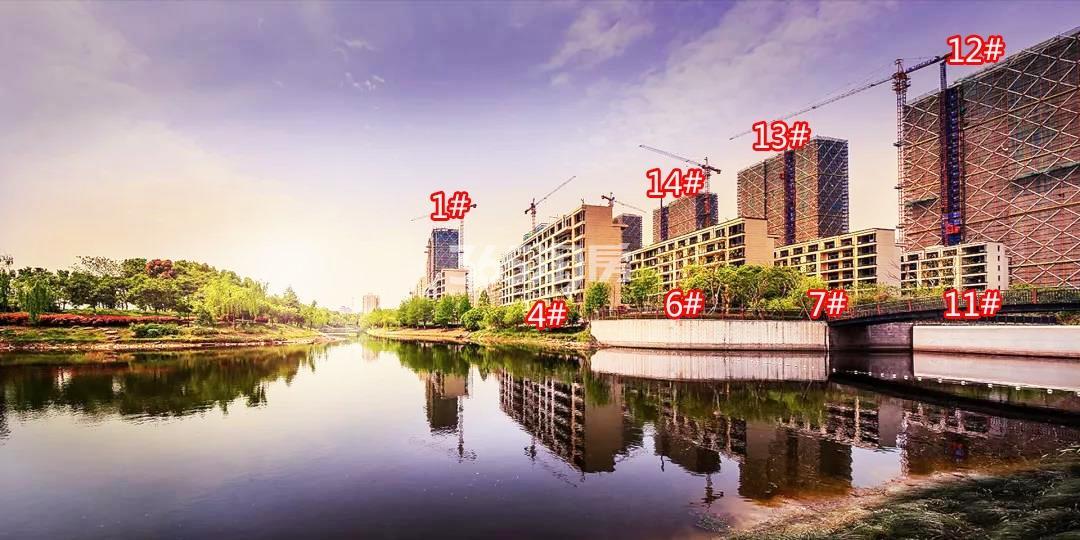 2018年4月荣安翡翠半岛高层1、12-14及洋房4、6、7、11号楼实景
