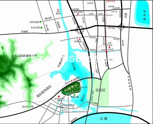 石湖华城交通图