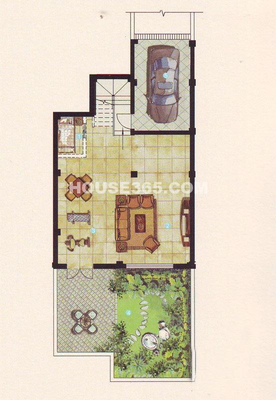 姑苏桃花源110-118号等幢A2户型地下层4室5厅3卫1厨300.00㎡