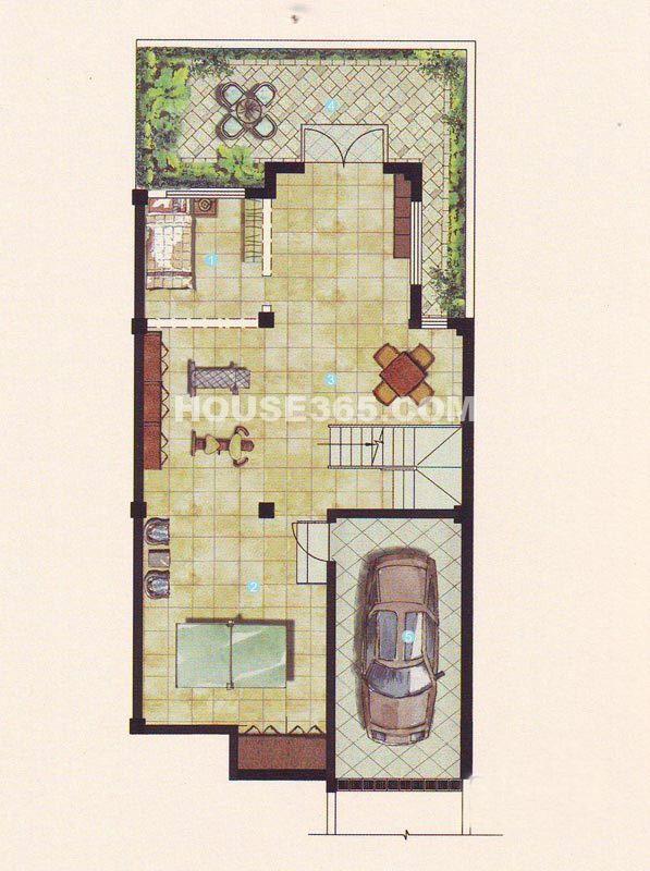 姑苏桃花源121-165幢B1户型地下层5室3厅3卫1厨316.00㎡