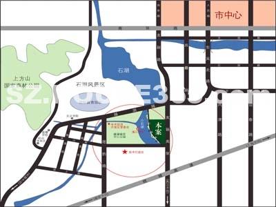 现代园墅交通图
