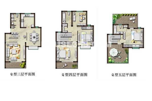 现代园墅户型图