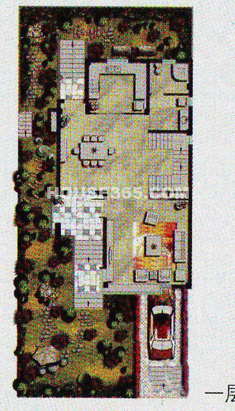 现代园墅独栋户型一层3室3厅4卫1厨401.42㎡
