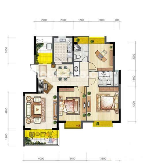 E2 3室2厅2卫1厨118.80㎡