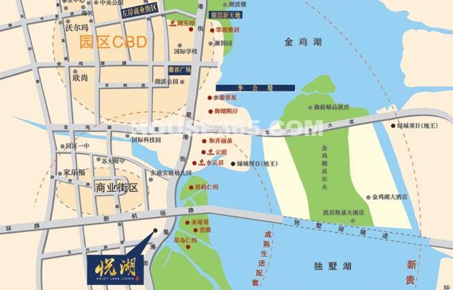置地悦湖交通图