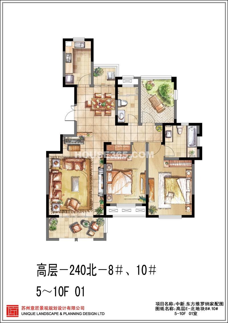 东方维罗纳高层E-北地块8#.10# 01室 2房2厅2卫
