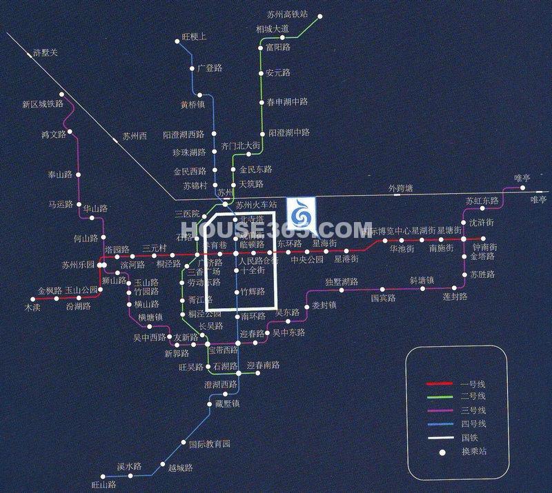 苏州凤凰文化广场交通图