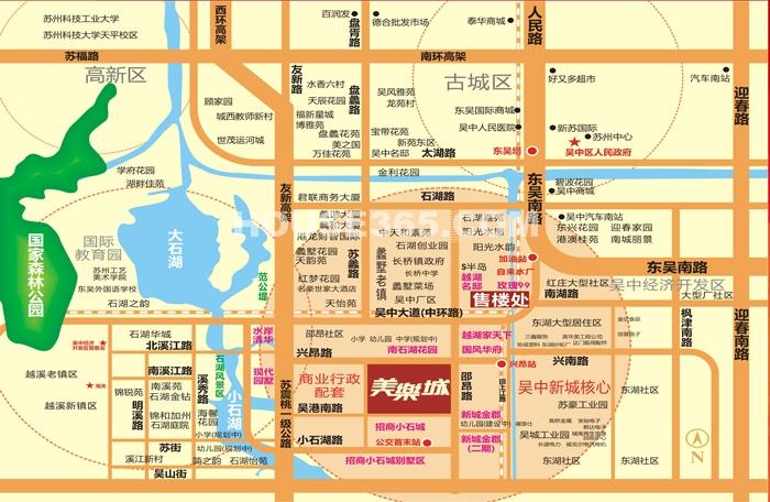 美乐城交通图