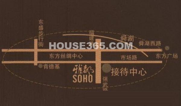 雅都SOHO商业广场交通图