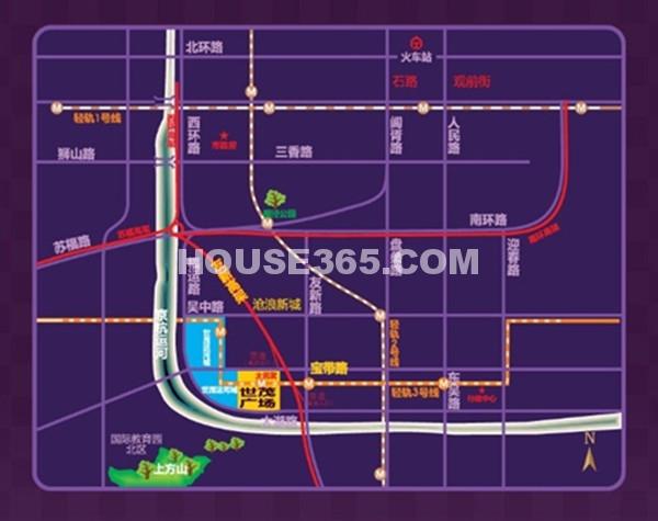 苏州世茂广场交通图