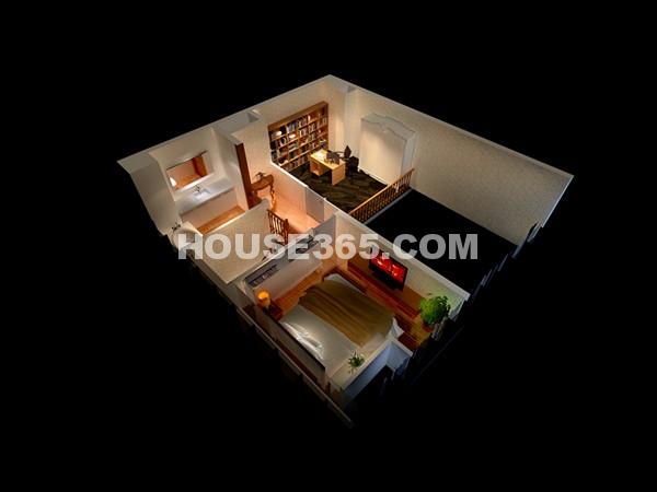 90.83平米LOFT公寓二楼