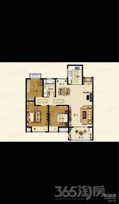 铂锐华府3室2厅1卫104平米毛坯产权房2018年建