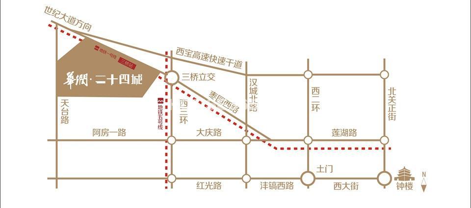 华润二十四城交通图