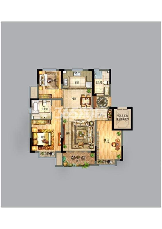 宝龙世家C区104平户型图