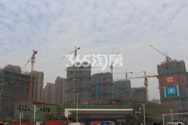 蚌埠国购广场 国购远眺图 201712