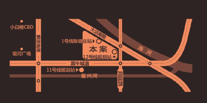 天房六合国际交通图