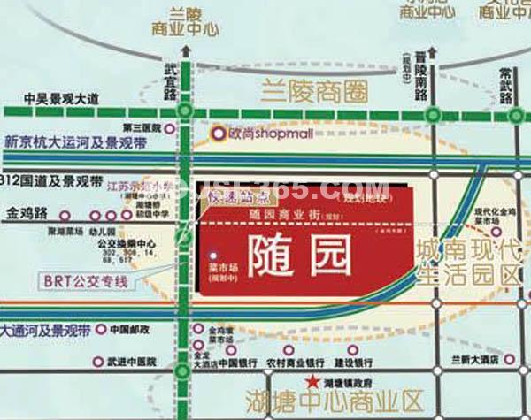 随园锦湖公寓交通图