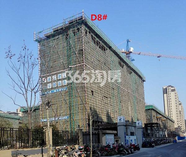 国基逸境在建8#楼洋房已封顶南向实景图(3.14)
