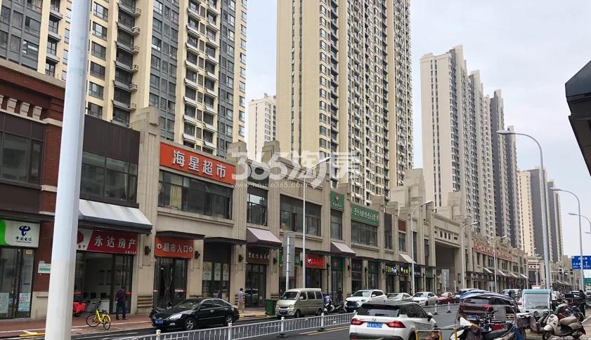 公元天下项目周边万年埠商业街实景图(2018.8.1)