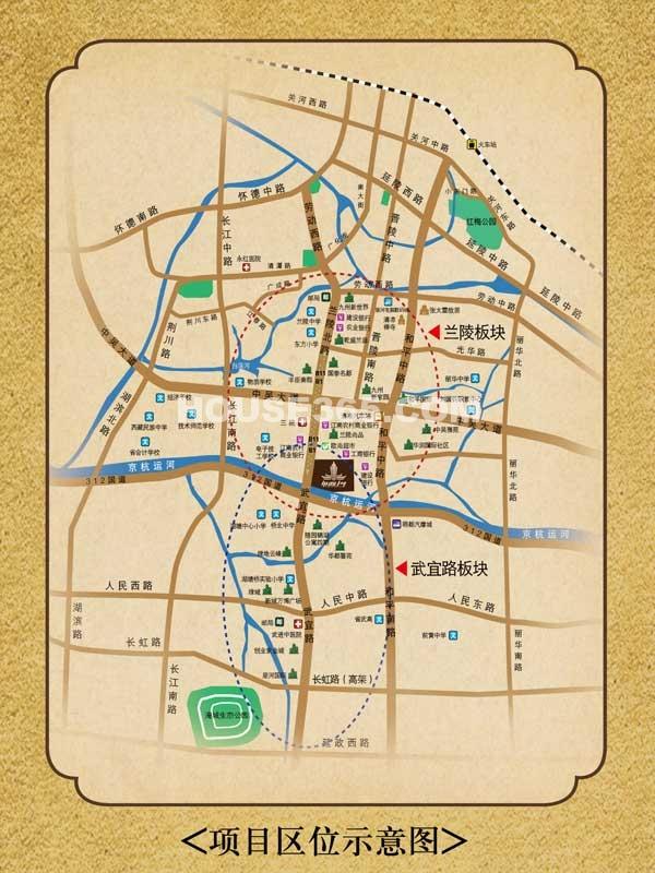 绿地外滩1号交通图