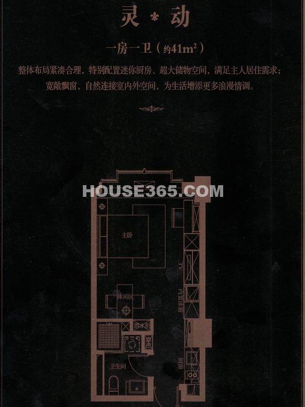 灵动-一房一卫(约41㎡)