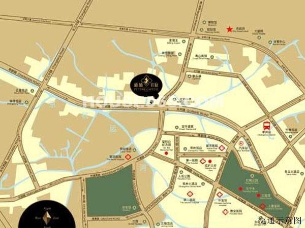 新城首府国际公寓交通图