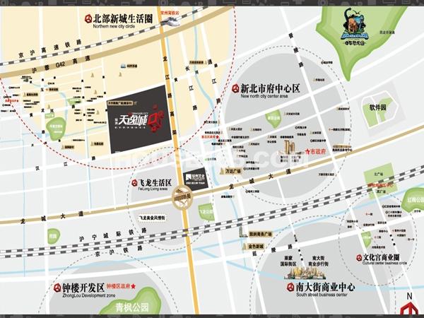 绿洲天逸城交通图