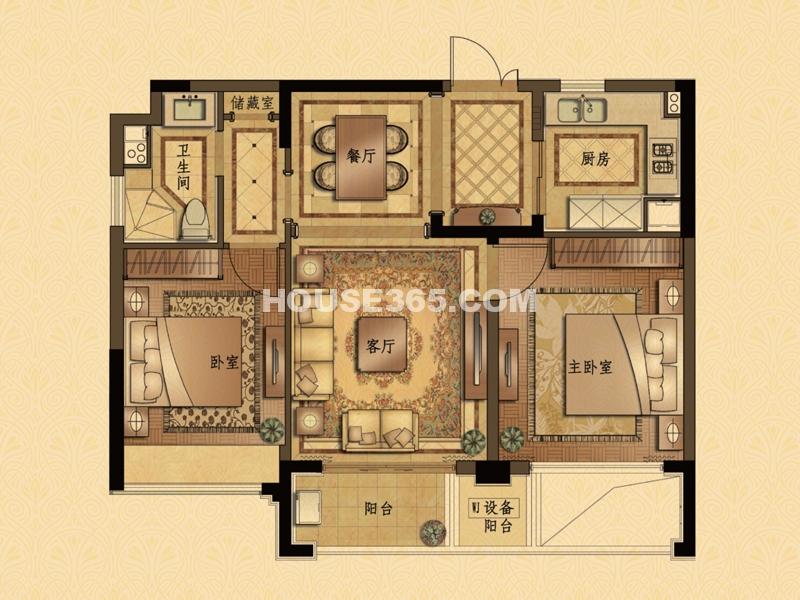 B5户型 2室2厅1卫