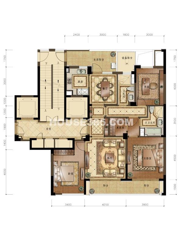 C3户型 3室2厅2卫